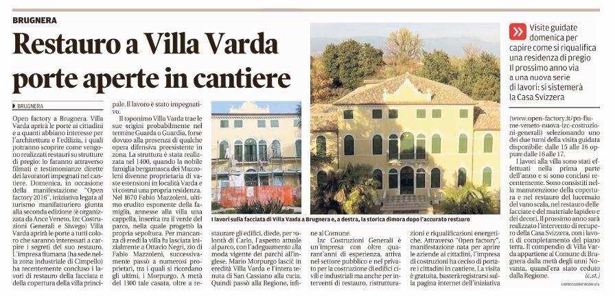 Dal Messagero Veneto
